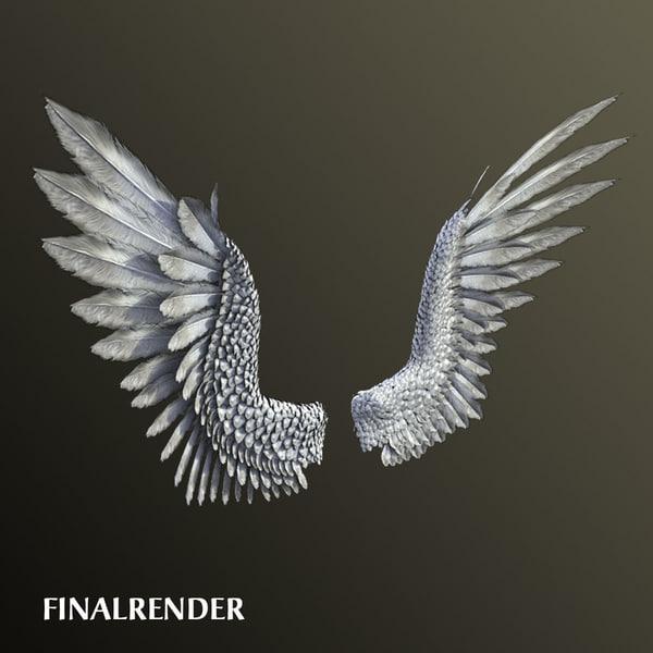 Pair of Bird / Angel Wings 3D Models