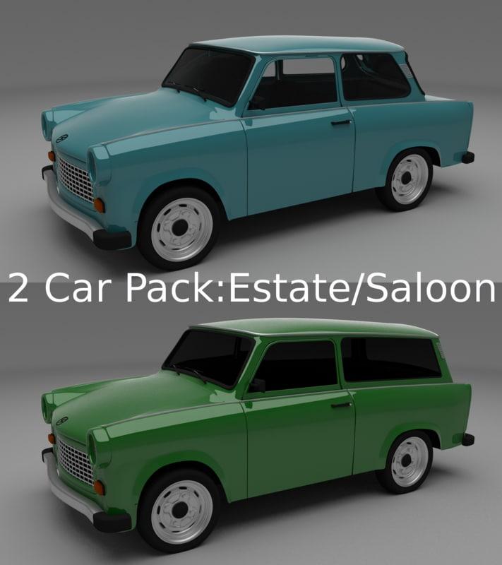 Trabant 601 estate/saloon pack