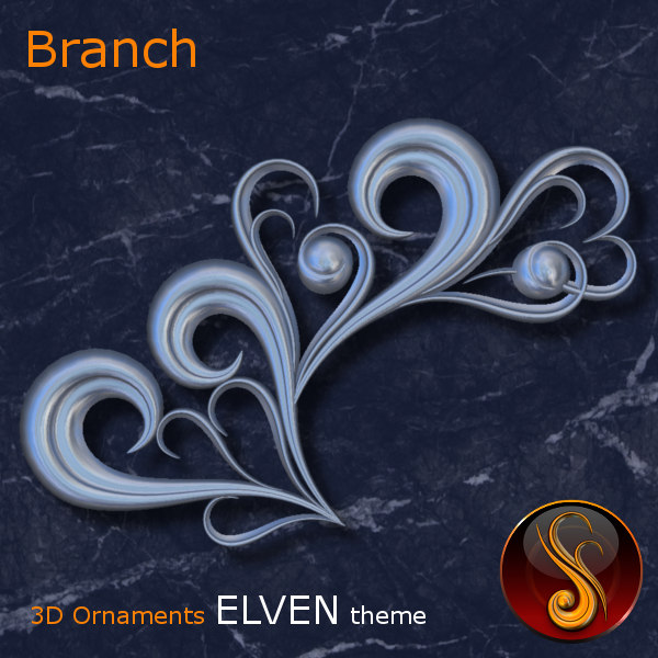 Branch Elven 3D Ornament