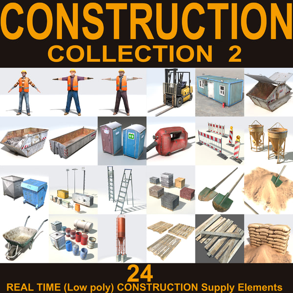 Construction Collection 2 3D Models