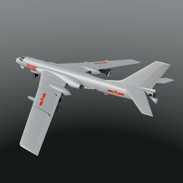 Chinese Air Force Xian H-6 3D Models