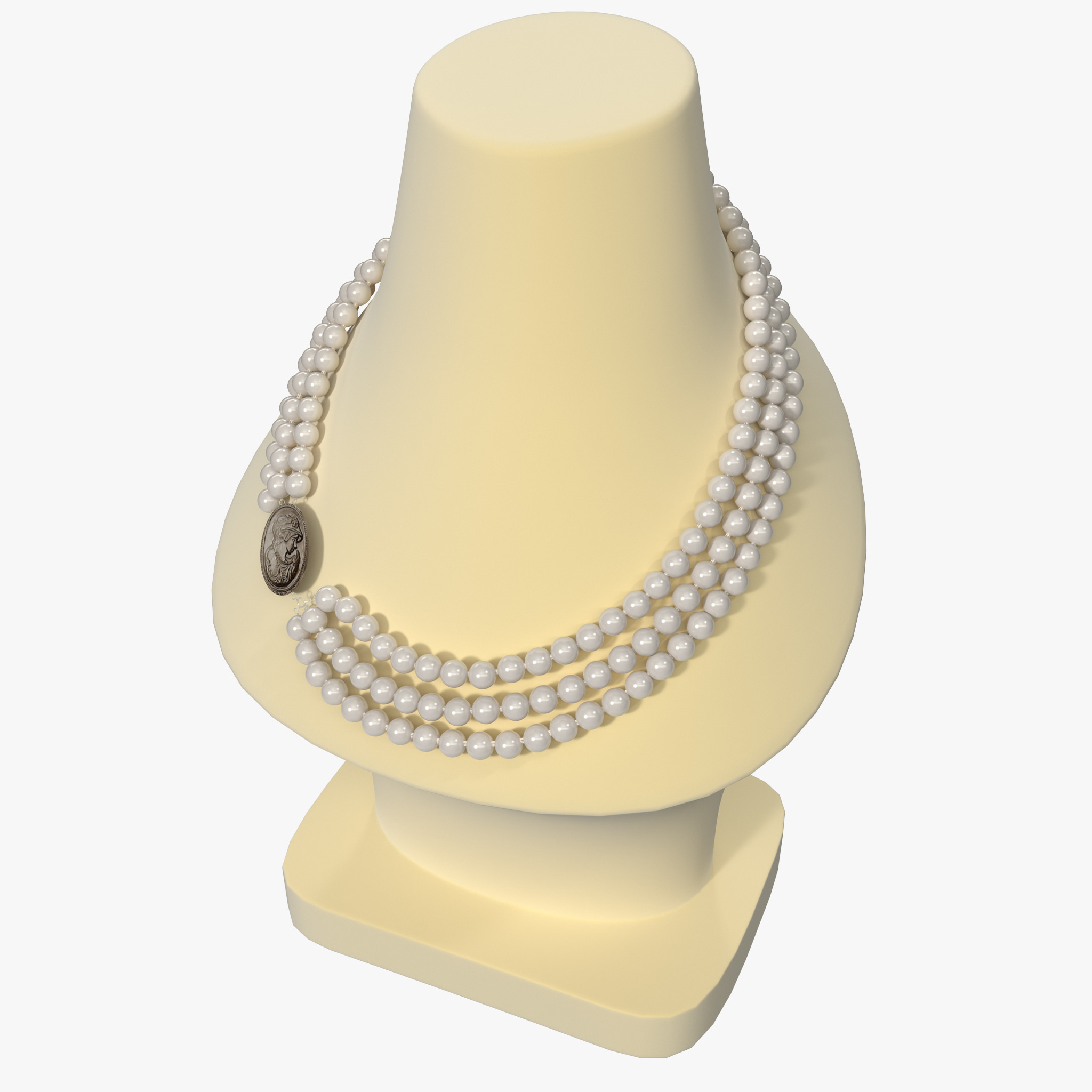 3d jewellery display bust necklace for Jewelry stand 3d model