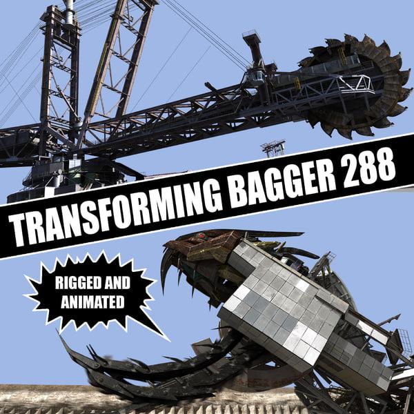 Transforming Bagger 288 3D Models