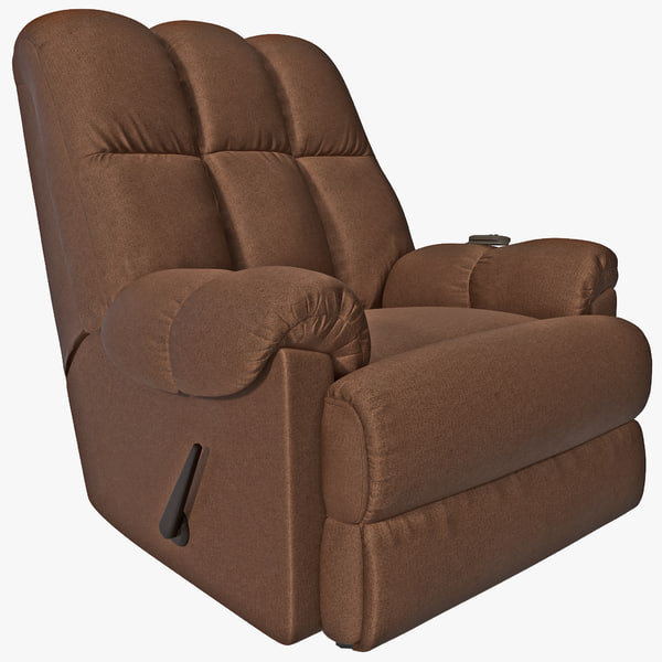 Padded Massage Rocker Recliner 3D Models