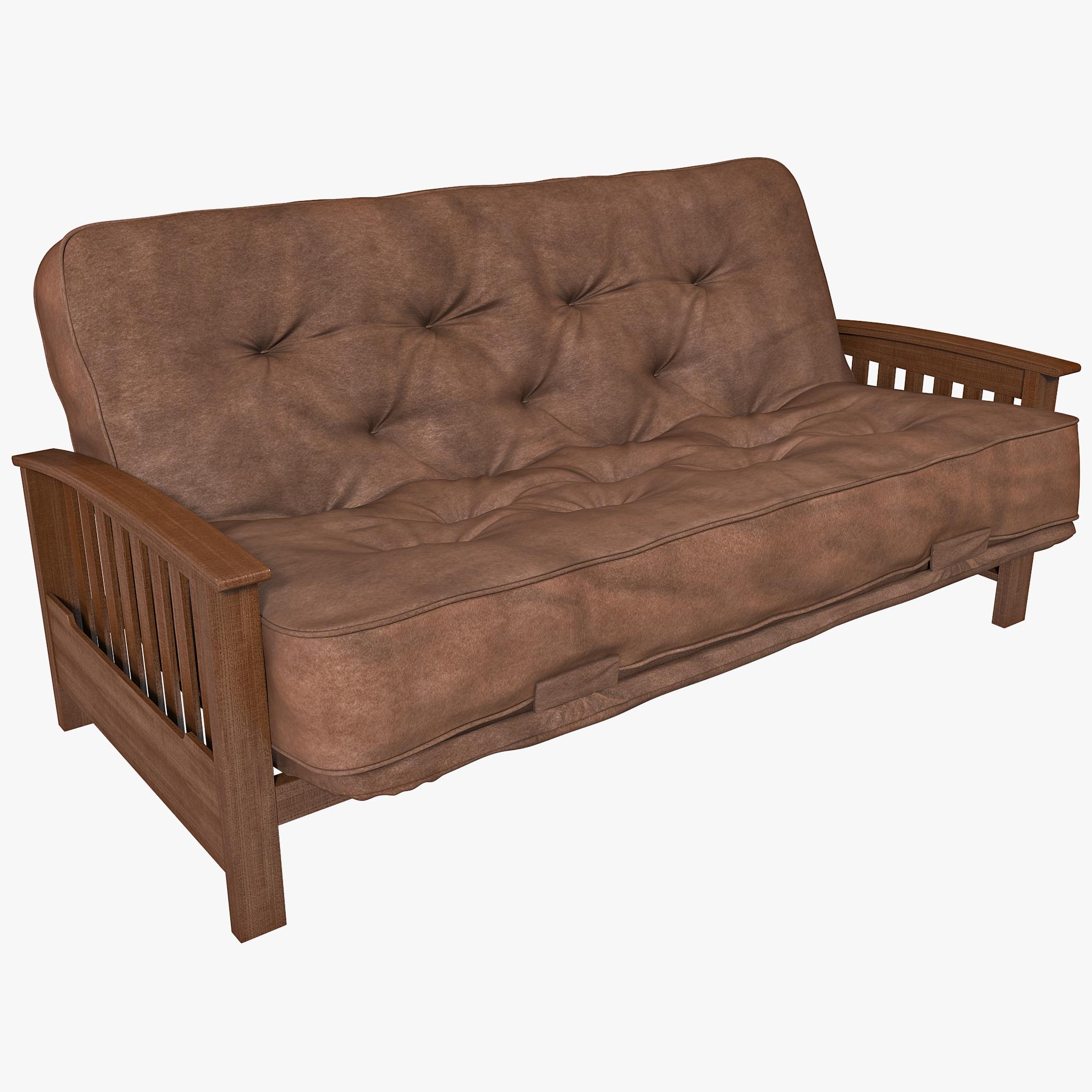 sofa futon 3d model. Black Bedroom Furniture Sets. Home Design Ideas