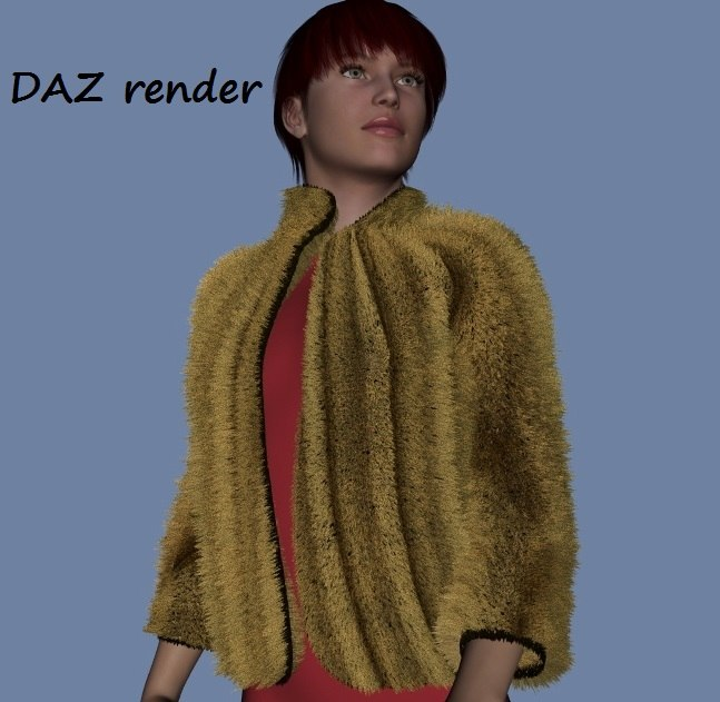 Fur bolero for DAZ Genesis and FBX