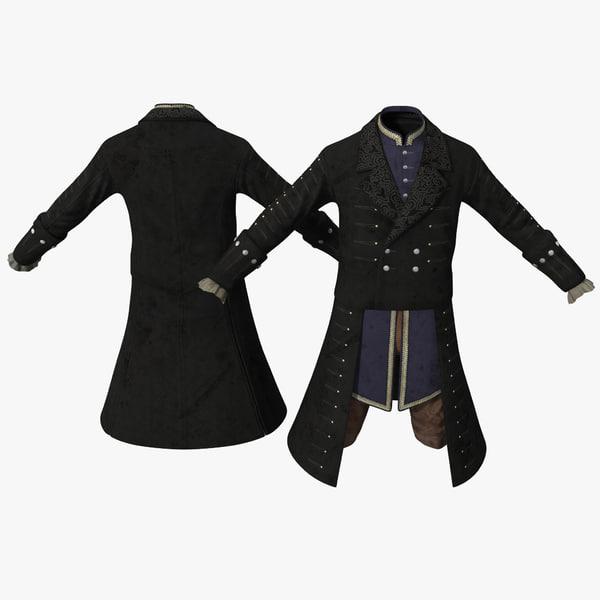 18th Century Mens Costume 2 3D Models