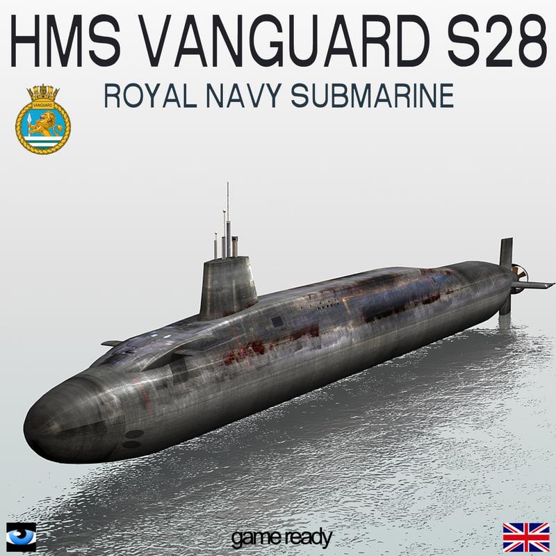 obj hms vanguard s28 submarine