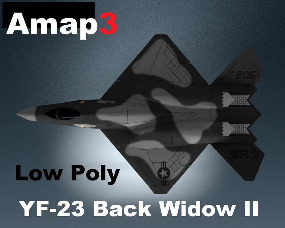 3d model yf 23 black widow ii
