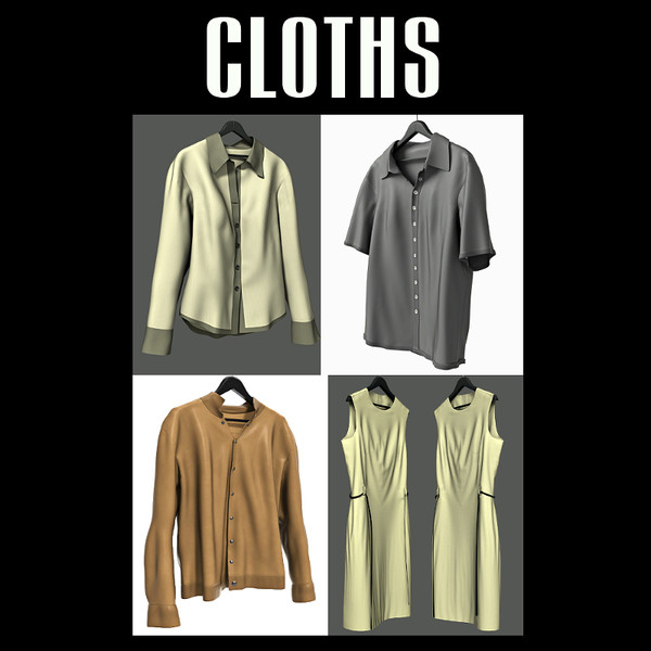 Cloth collection 01 3D Models