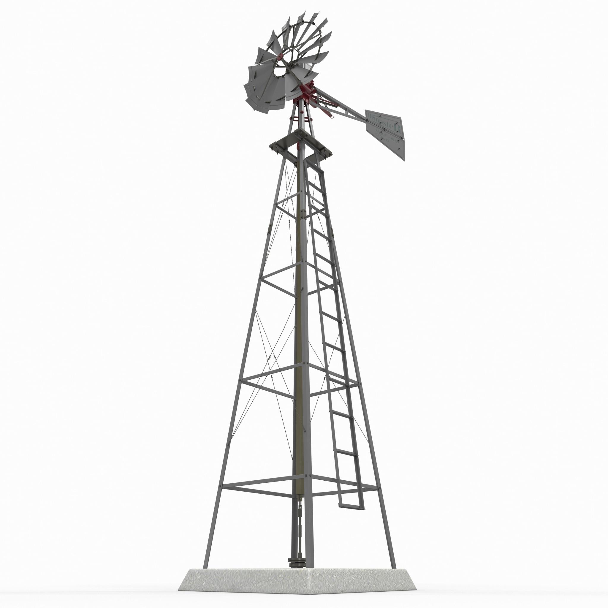 Model Water Pump Water Pumping Windmill