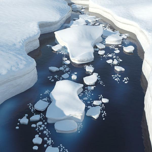 Icescape 3D Models