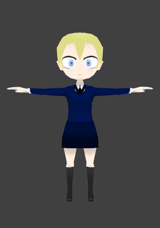 Military Chibi Girl