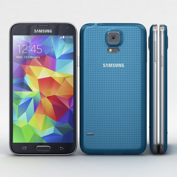 Samsung Galaxy S5 Blue Texture Maps