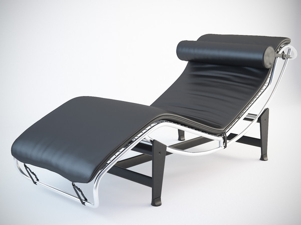 Recliner LC4 (Le Corbusier) Chaise Longue 3D Models
