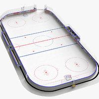hockey rink 3D models