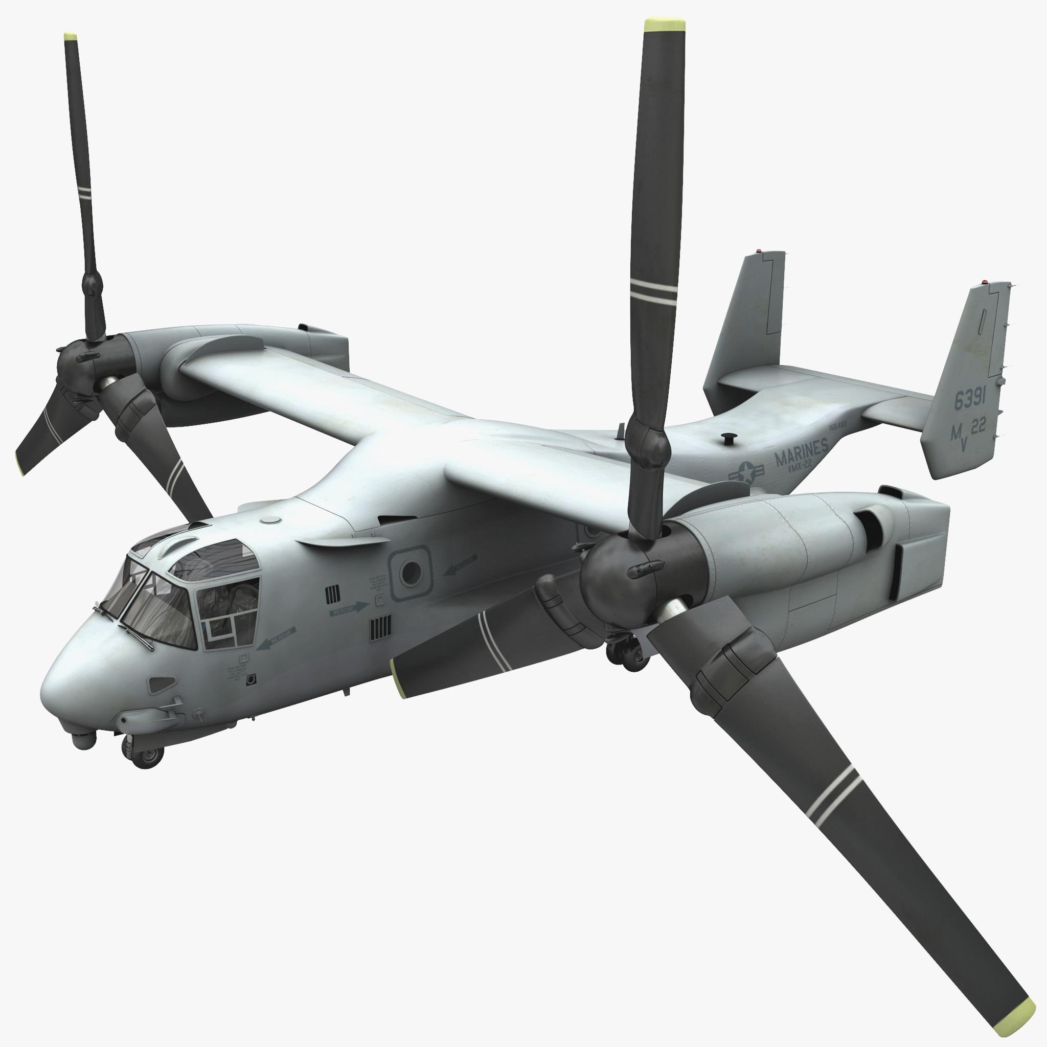Military Tiltrotor Aircraft MV-22 Osprey 2