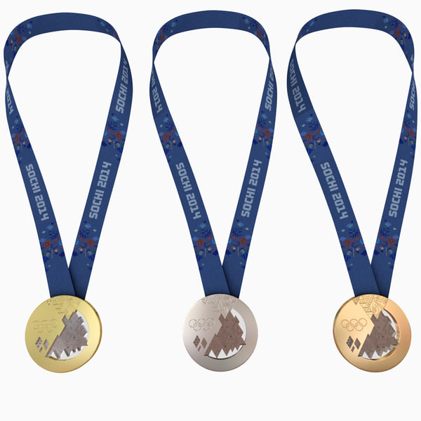 Olympic Medals - Sochi 2014 Olympic Games 3D Models