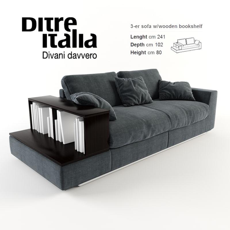 3d ditre italia sofa bijoux model for Di tre italia