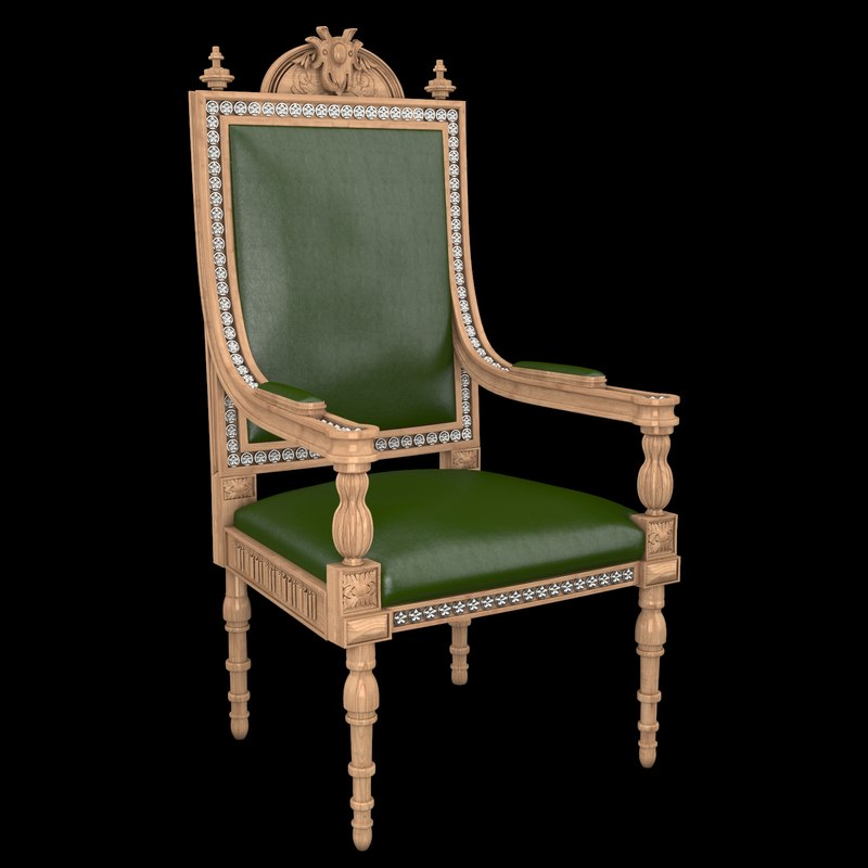 Classical antiquarian room chair