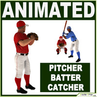 baseball player 3D models
