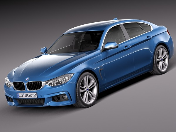 BMW 4 Series Gran Coupe M sport package 2015 3D Models