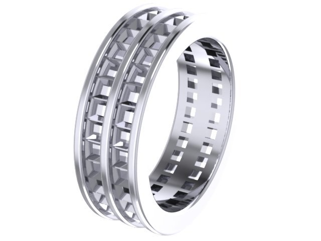 Double row full Eternity ring
