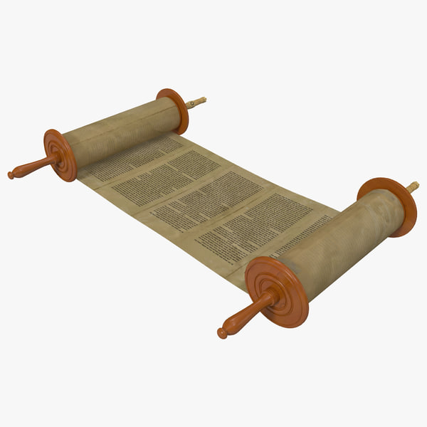 Torah Scroll 2 3D Models