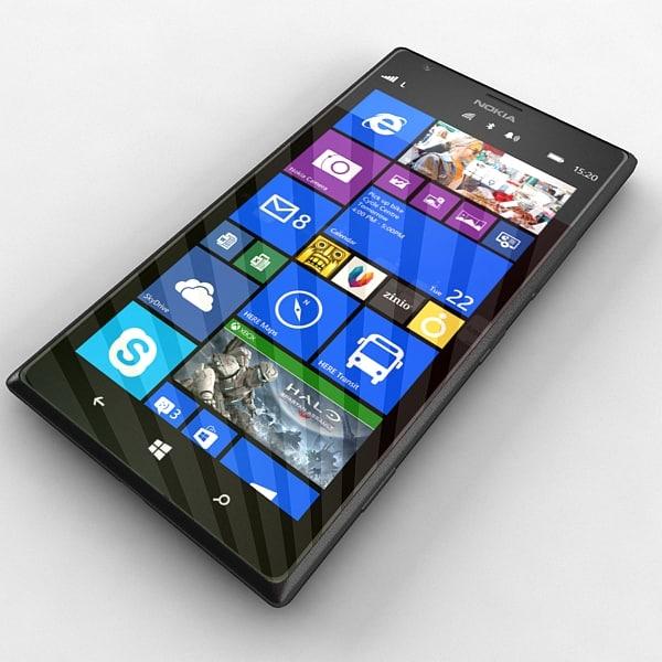 Nokia Lumia 1520 in Black Colour 3D Models