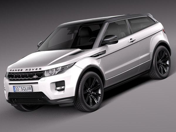 Range Rover Evoque Black Design 2013 3D Models