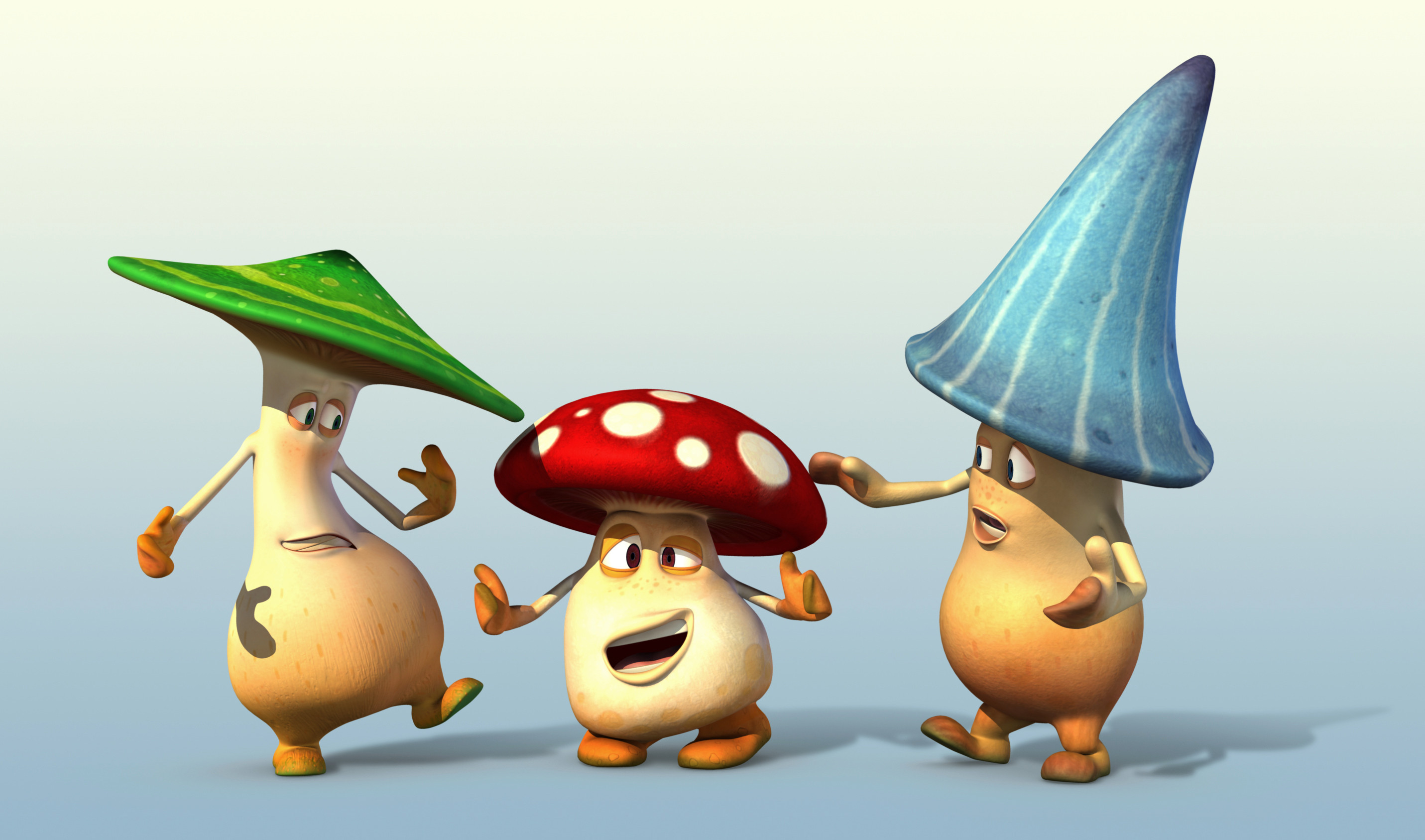 3 Cartoon Character Images : Mushroom cartoon characters d ma