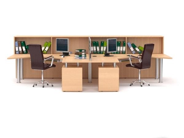 Office Workstations1 3D Models