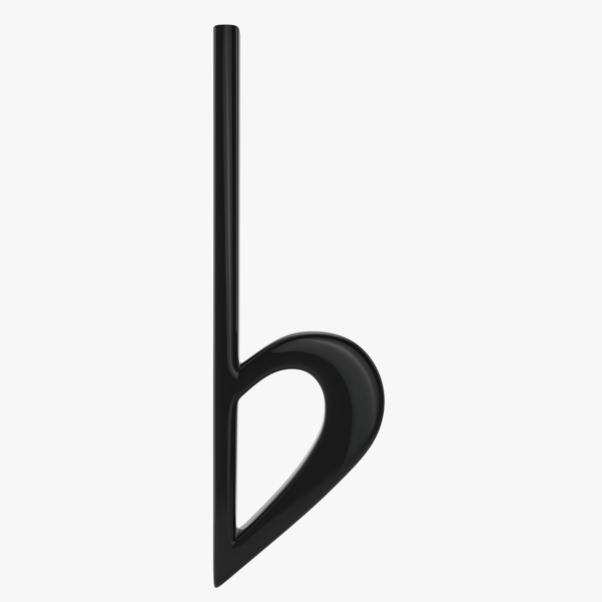 B Flat Sign 3d model flat music si...