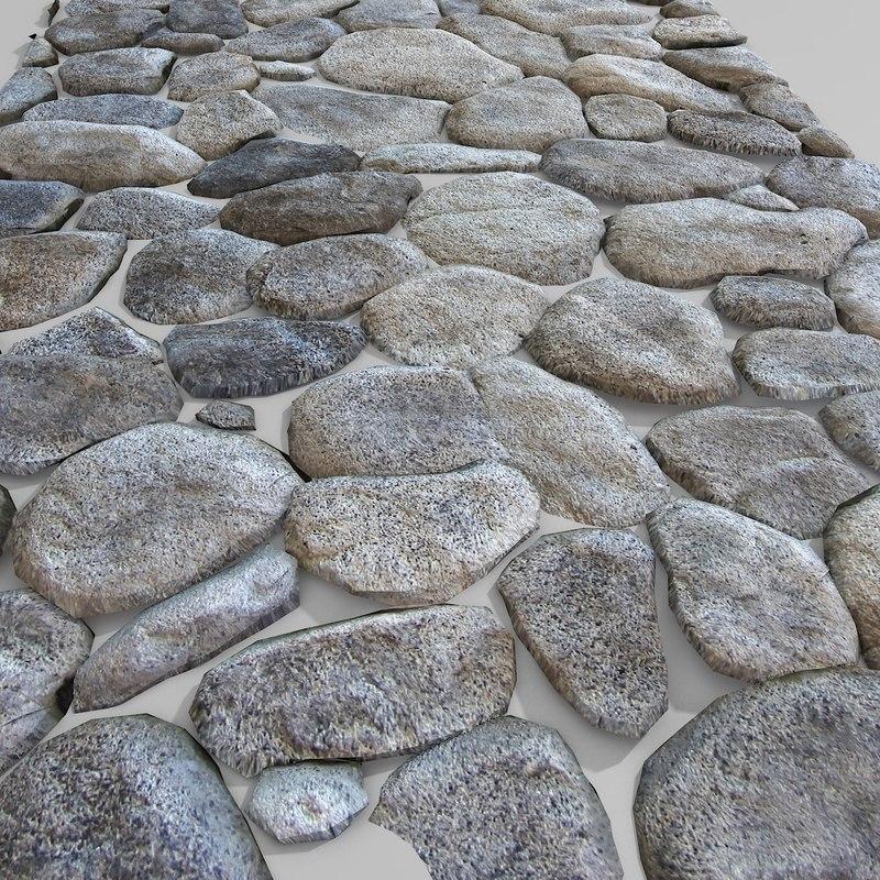 Stone Pavement Round Circular block decorative wall castle ruin old