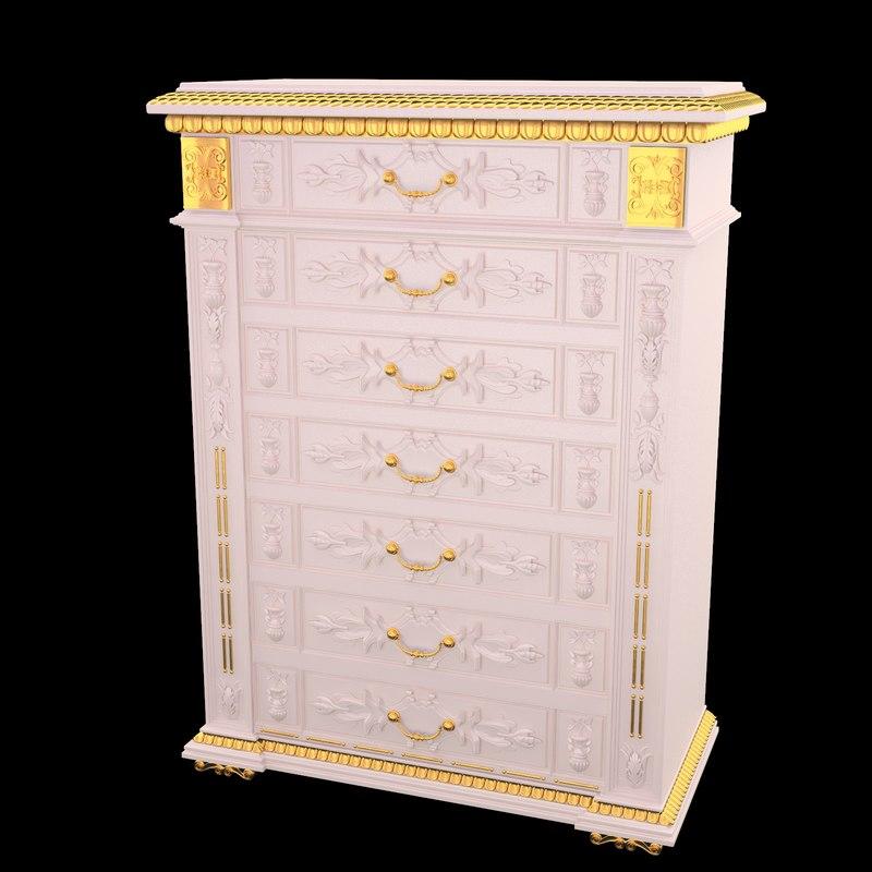 classical antiquarian linen dresser style Renaissance .