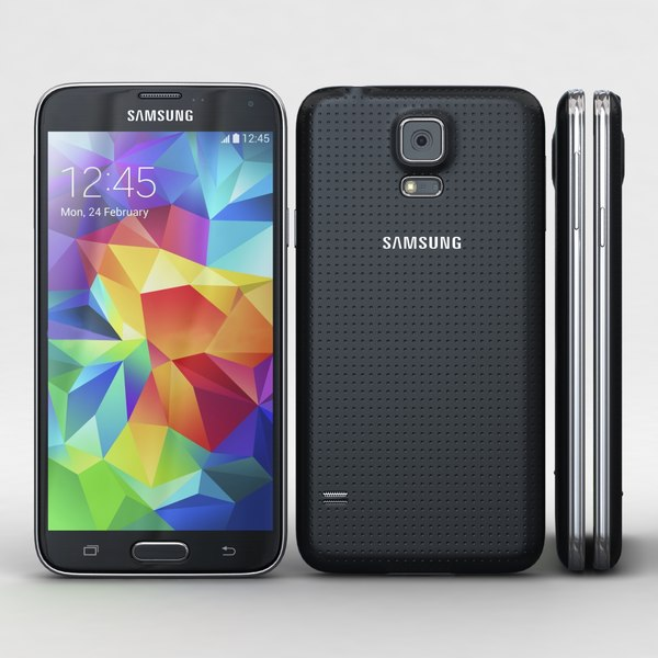Samsung Galaxy S5 Black 3D Models