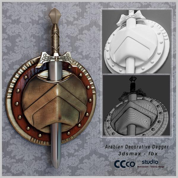 Arabian Dagger 3D Models