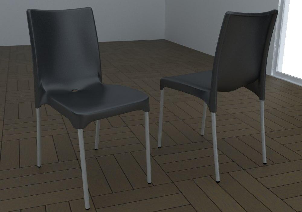 Chair gaber 3d max for Chair 3d model maya