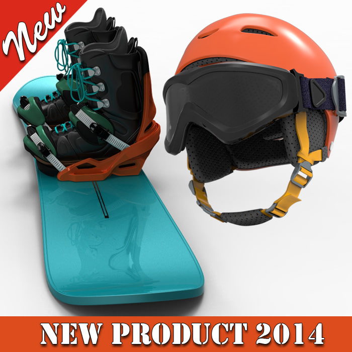 Snow Board with Helmet and Glass