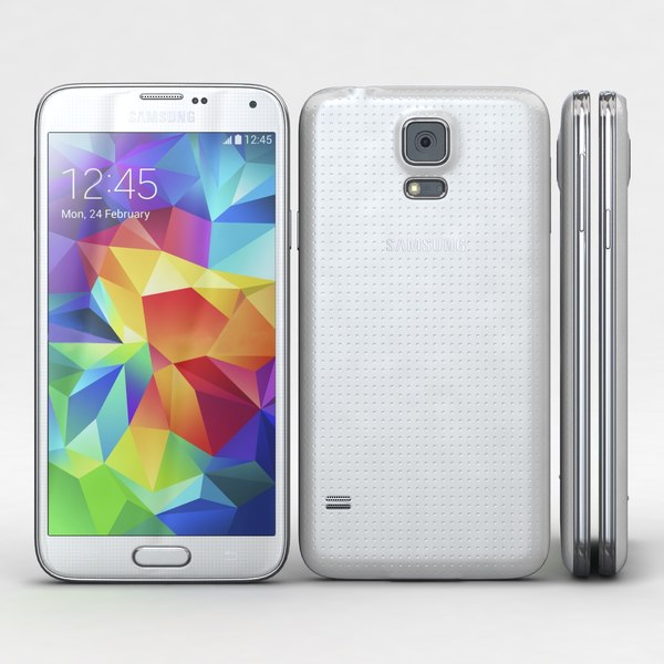 Samsung Galaxy S5 White 3D Models