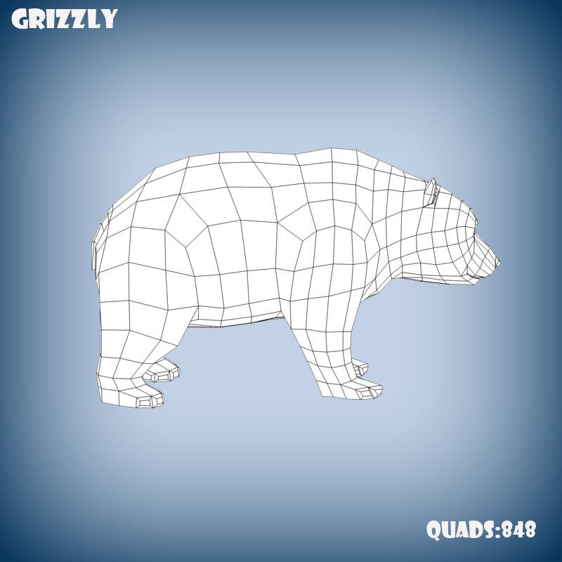Grizzly bear base mesh