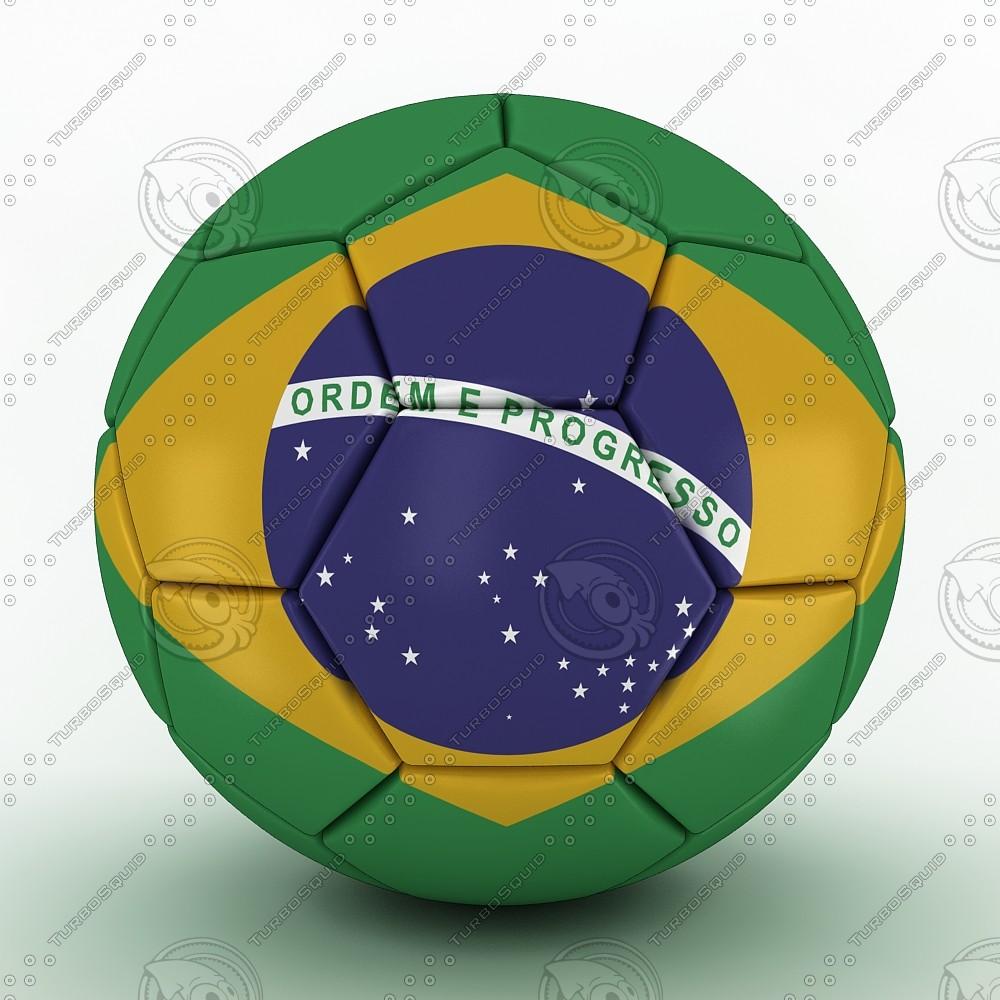 3d model 2014 brazil ball