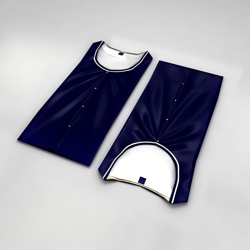 Folded Shirt Low Poly
