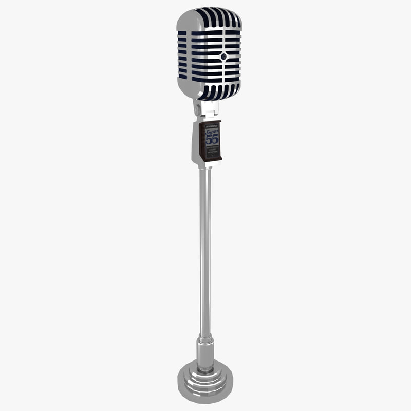 3d model vintage microphone. Black Bedroom Furniture Sets. Home Design Ideas