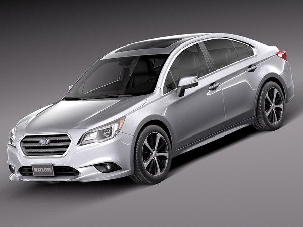 Subaru Legacy 2015 3D Models