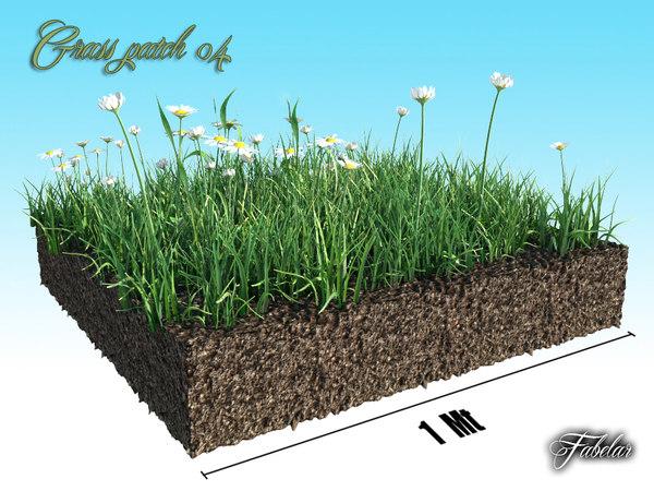 Grass patch 04 3D Models