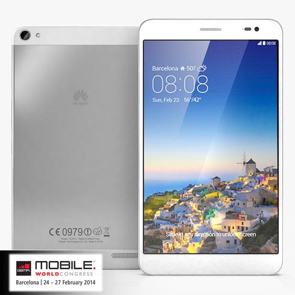 Huawei MediaPad X1 3D Models