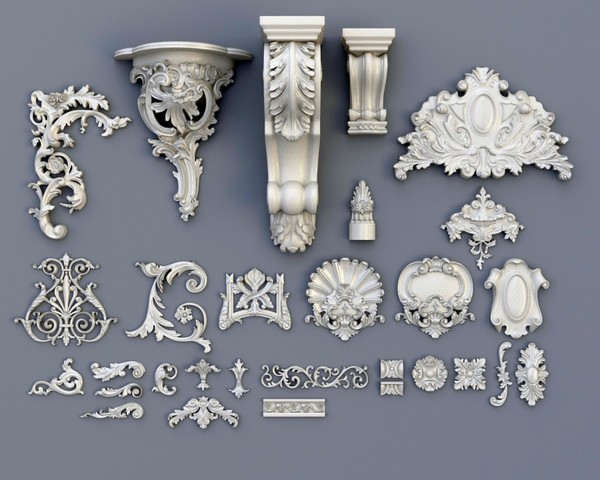 Swag_Ornaments_Collection 3D Models