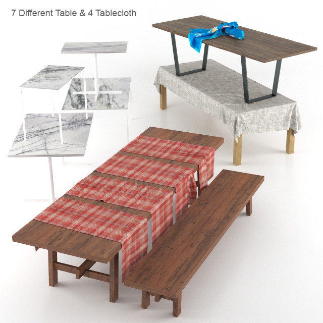 Dining Table and Tablecloth Set