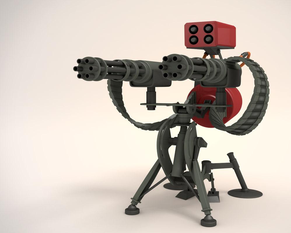 Tf2 Sentry Gun Model 3d Models For Sentry Gun